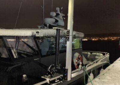 Spesialutstyr montert på brakett for Energi og Marine